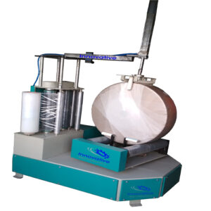 Reel Wrapping Machine With Holding