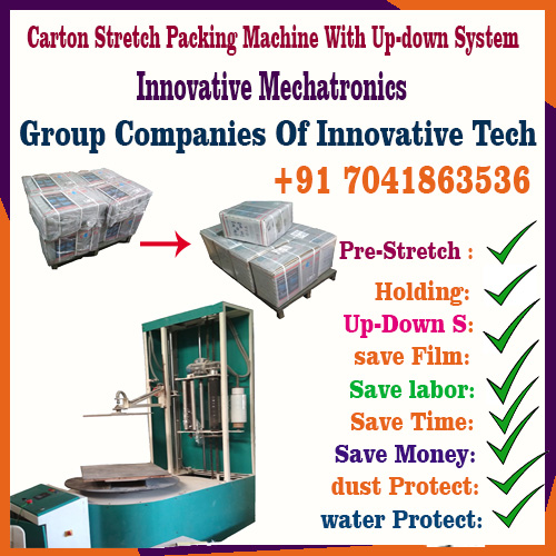 Box Stretch Wrapping Machine With Up-Down system