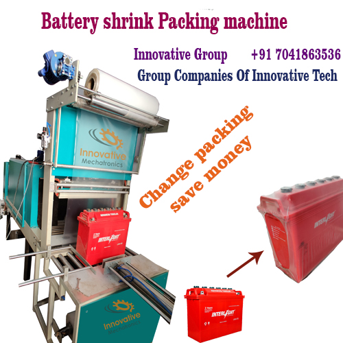 Automatic battery shrink wrap