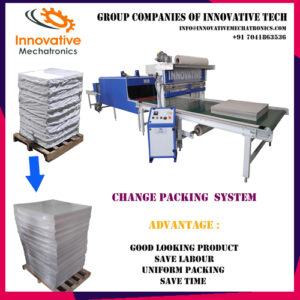 duplex paper board shrink wrapping machine