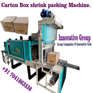 Box stretch wrapping machine with pneumatic Holder